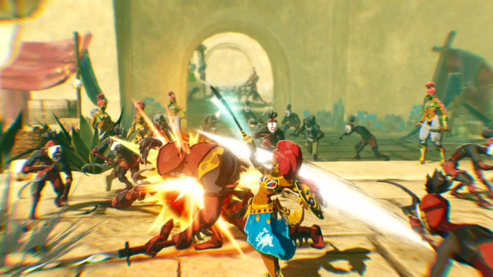hyrule warriors age of calamity action