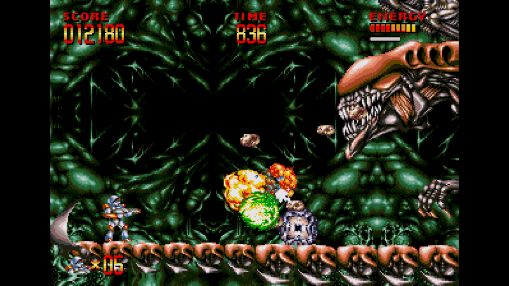 Turrican Flashback - Mega Turrican boss fight