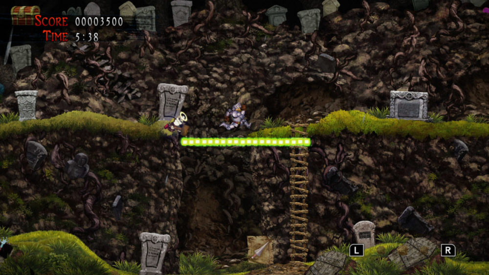 Press image: Capcom - Ghosts Gon Goblins Resurrection - copyright 2021 - Jumping over abyss.