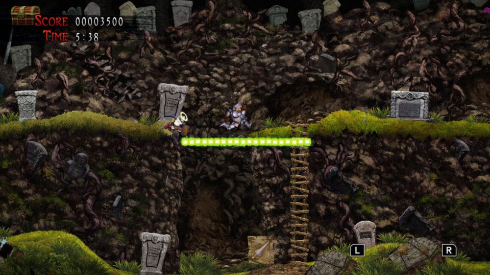 Pressbild: Capcom - Ghosts ´n Goblins Resurrection - copyright 2021 - Jumping over abyss.