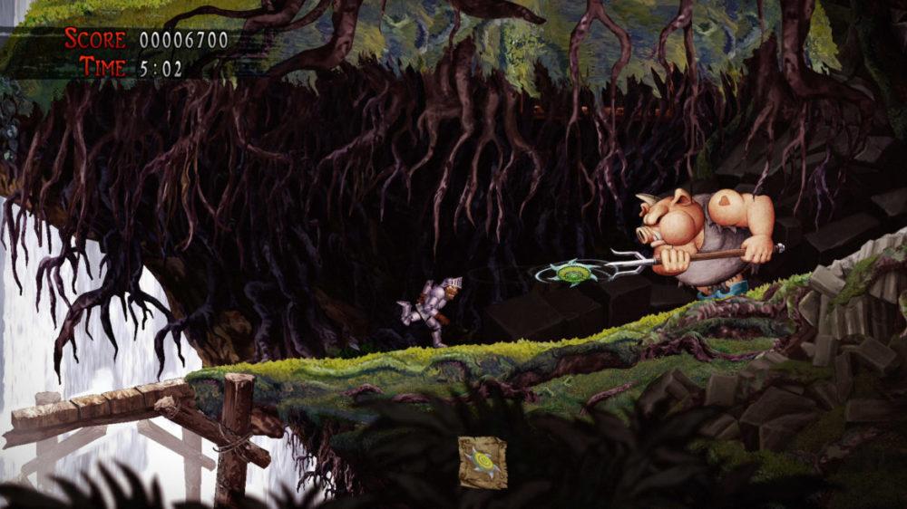 Press image: Capcom - Ghosts Gon Goblins - Resurrection - copyright 2021 - Pig boss fight