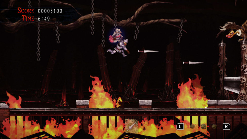 Press image: Capcom - Ghosts Gon Goblins - Resurrection - copyright 2021 - Jumping between chains.