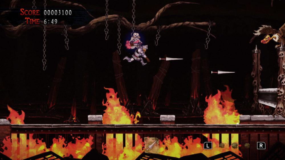 Pressbild: Capcom - Ghosts ´n Goblins  - Resurrection - copyright 2021 - Jumping between chains.