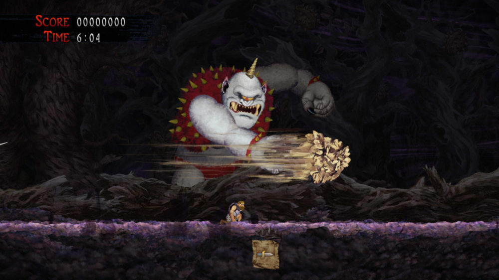Press image: Capcom - Ghosts Gon Goblins - Resurrection - copyright 2021 - cyclops boss fight