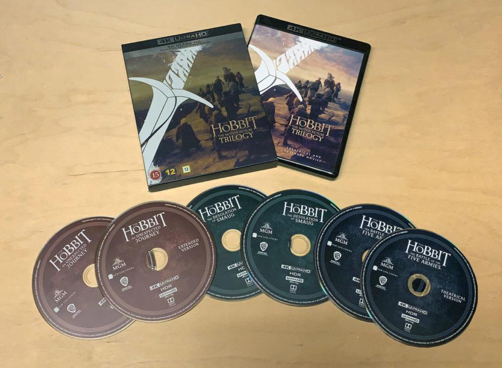 foto:senses.se - Hobbit Triology all discs