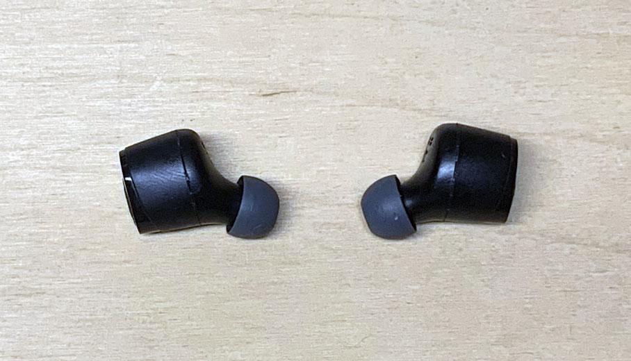 Skullcandy - Jib True Wireless - foto: senses.se - Närbild hörlurarna