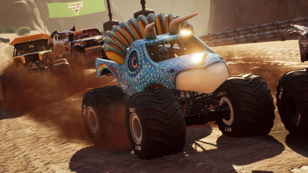 Monster Jam - Steel Titans 2 - THQ Nordic - Rainbow Studios - Pressbild - Copyright 2021 - Close up of an Monster Truck.