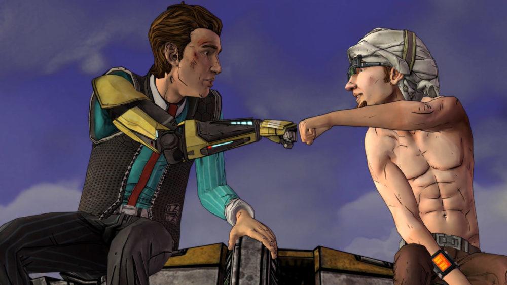 Tales From The Borderlands - Telltale Games - 2K - Gearbox Software - Pressbild Copyright 2021 - Fist bump