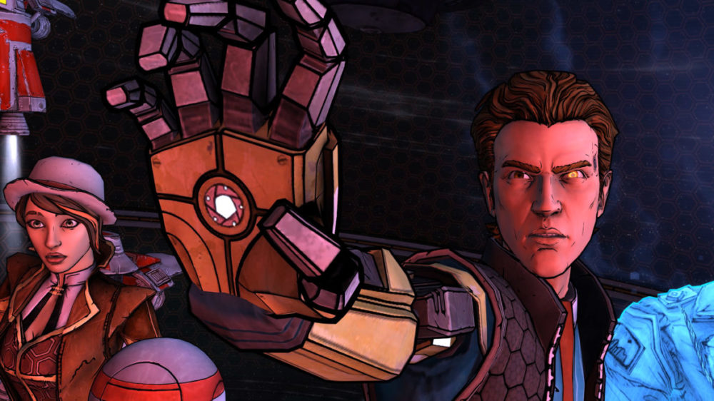 Tales From The Borderlands - Telltale Games - 2K - Gearbox Software - Pressbild Copyright 2021 - Talk to the hand.