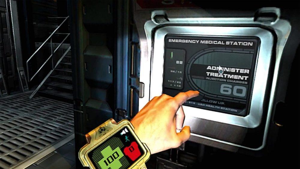 Press image: Bethesda / Playstation - Doom 3 - VR Edition - Copyright 2021 - Health upload.