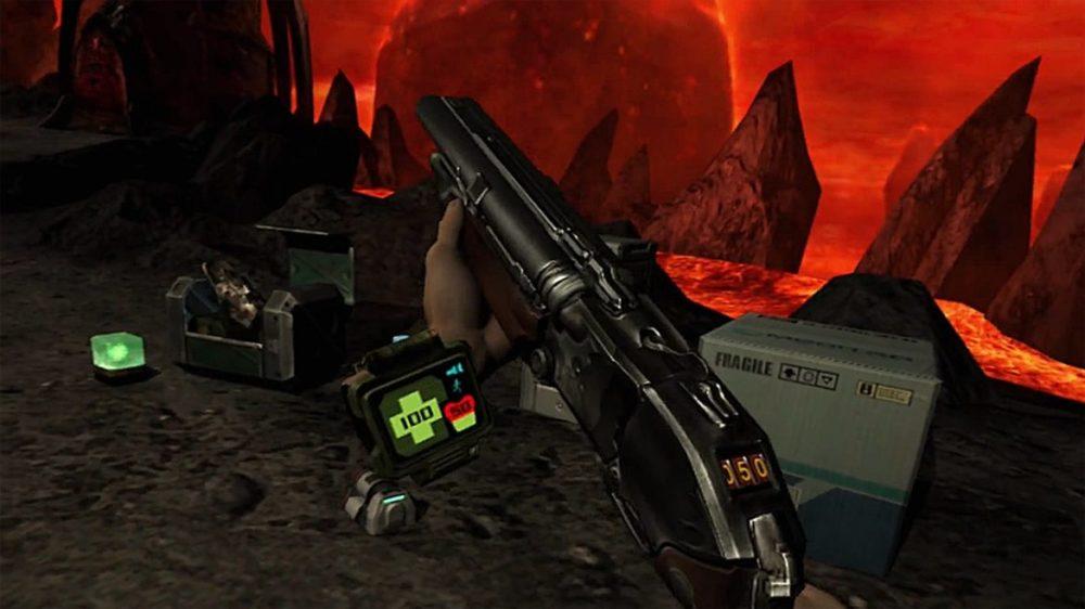 Press image: Bethesda / Playstation - Doom 3 - VR Edition - Copyright 2021 - Shotgun