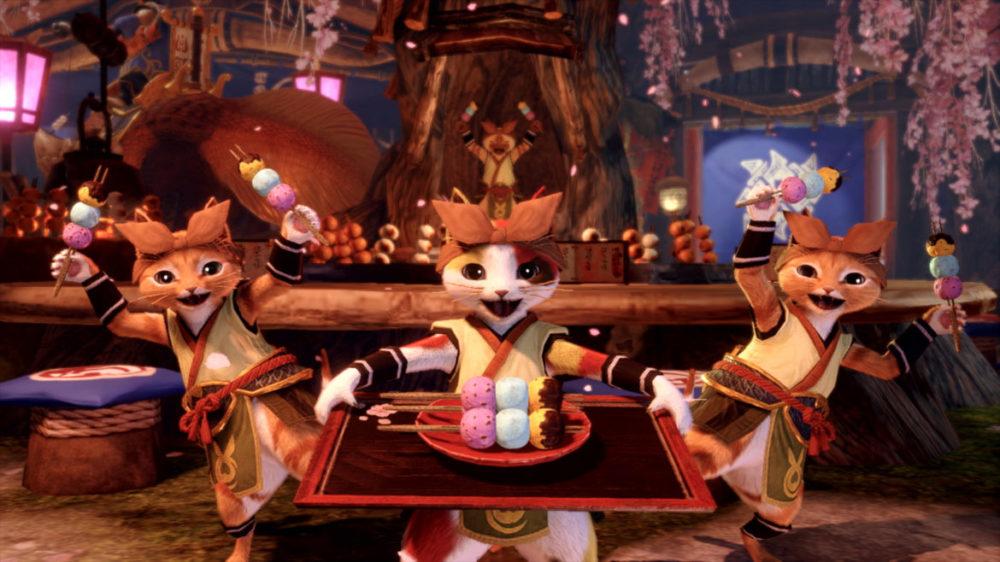 Monster Hunter Rise - press image: Capcom - copyright 2021 - Meow Sushi.