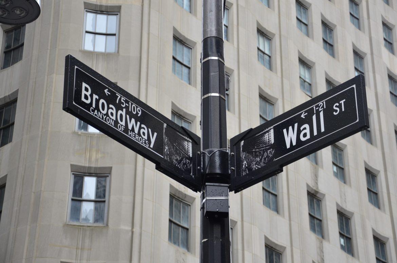 New York Wall Street broadway