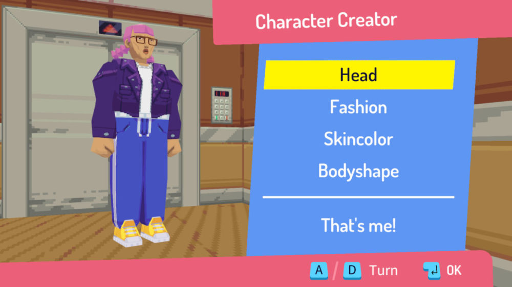 Pressbild: Thunderful - Say No! More - Copyright 2021 - Character Creator page.