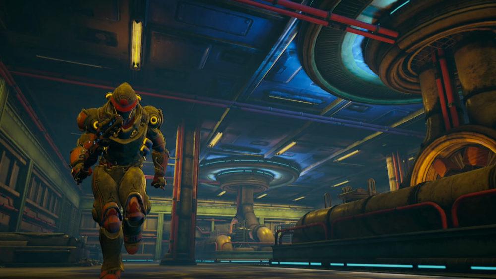 The Outerworlds - Peril on Gorgon - Press image: Obsidian Entertainment - copyright 2021 - Run!