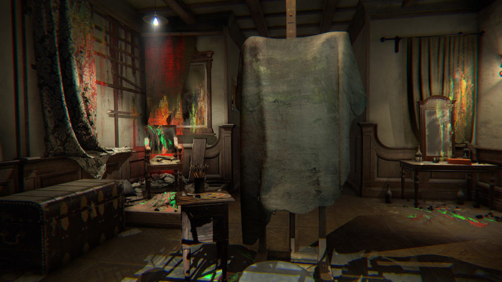 Foto: Bloober Team - Layers of Fear VR - Copyright 2021 - Whats behind the curtain?