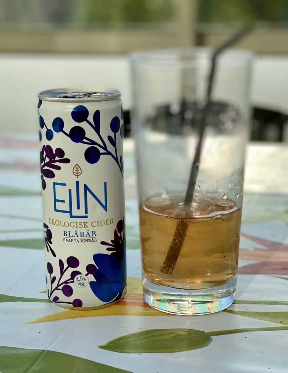 Elin ekologisk cider blåbär svarta vinbär