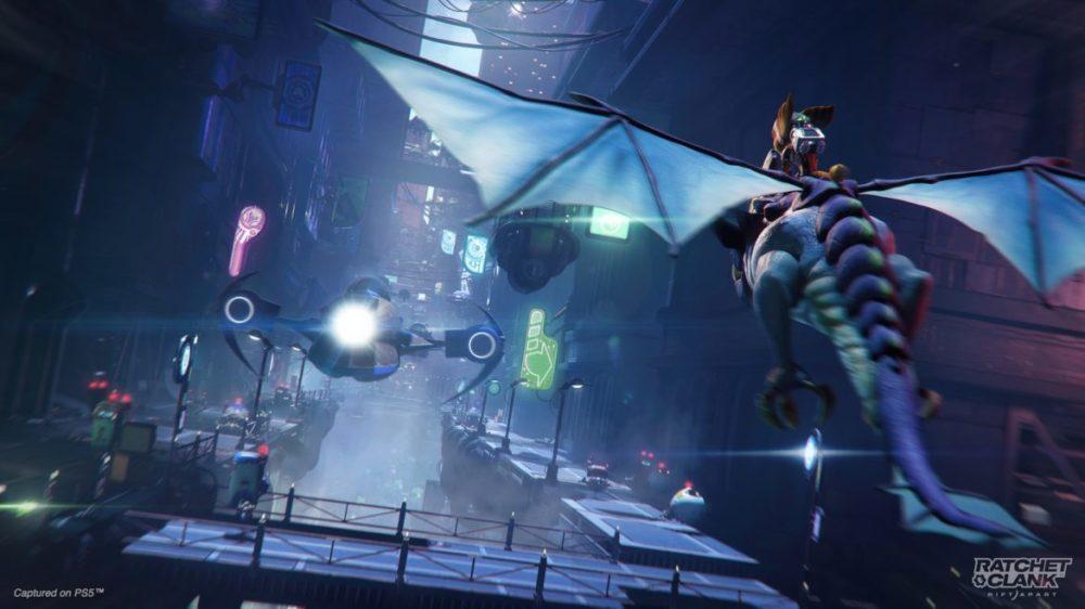 Ratchet & Clank: Rift Apart PS5 Flyga på drake