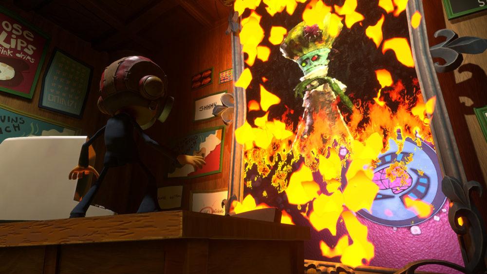 Psychonauts 2 - press image: © Double Fine Productions - Raz burns painting.