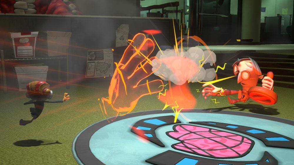Psychonauts 2 - press image: © Double Fine Productions - Raz in action against censors.
